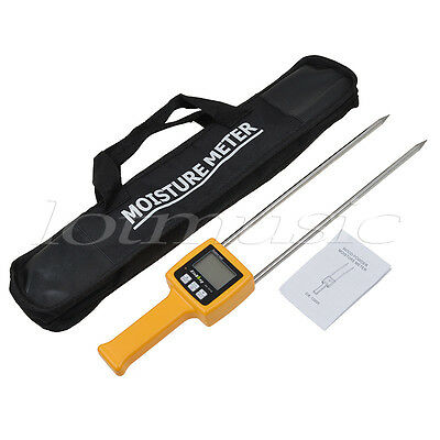 Grain Moisture Meter Tester Portable Digital Wheat Flour Corn Wheat Rice Bean