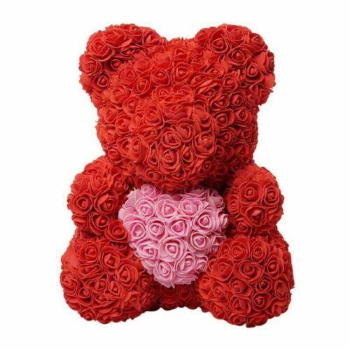 USA SELLER-25 CM Artificial Flower RoseBear Eternal Valentine Wedding Party Gift