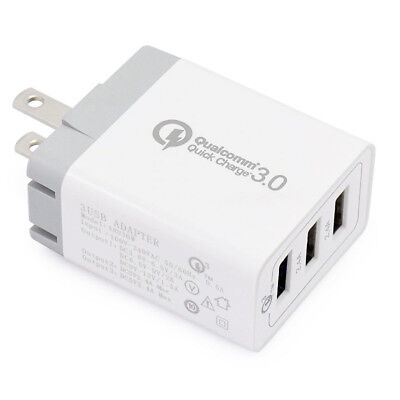 3 Port 30W Qualcomm 3 0 Quick Charge Usb Wall Charger Plug Ac Home Power Adapter