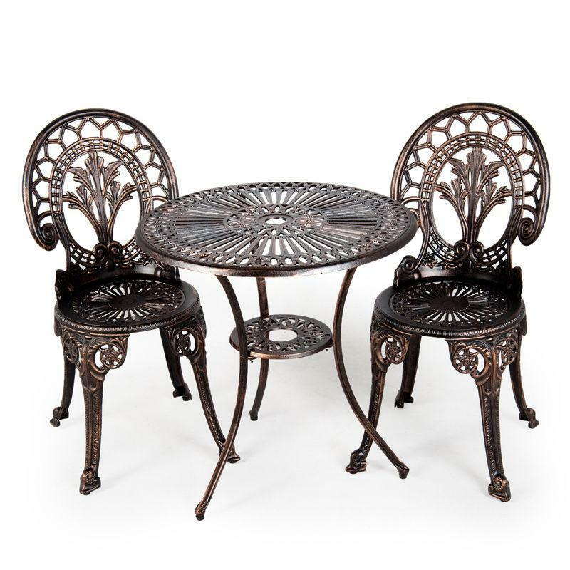 Outdoor Iron Table And Chair Set: Cast Iron Table And Chairs