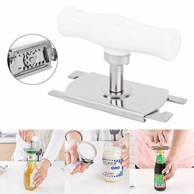Stainless Steel Adjustable Hand Manual Non-slip Can Bottle Jar Easy Opener NEW