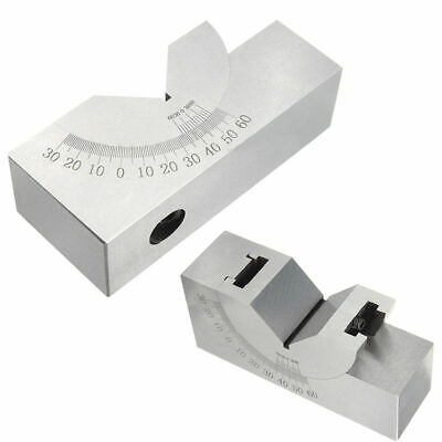 New 752532mm Toolmaker Precision Micro Adjustable Angle V Block Milling 0