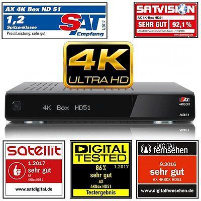 AX 4K-BOX HD51 UHD 2160p E2 Linux Receiver mit 1x Sat (DVB-S2) Tuner  PVR  ATV. online kaufen