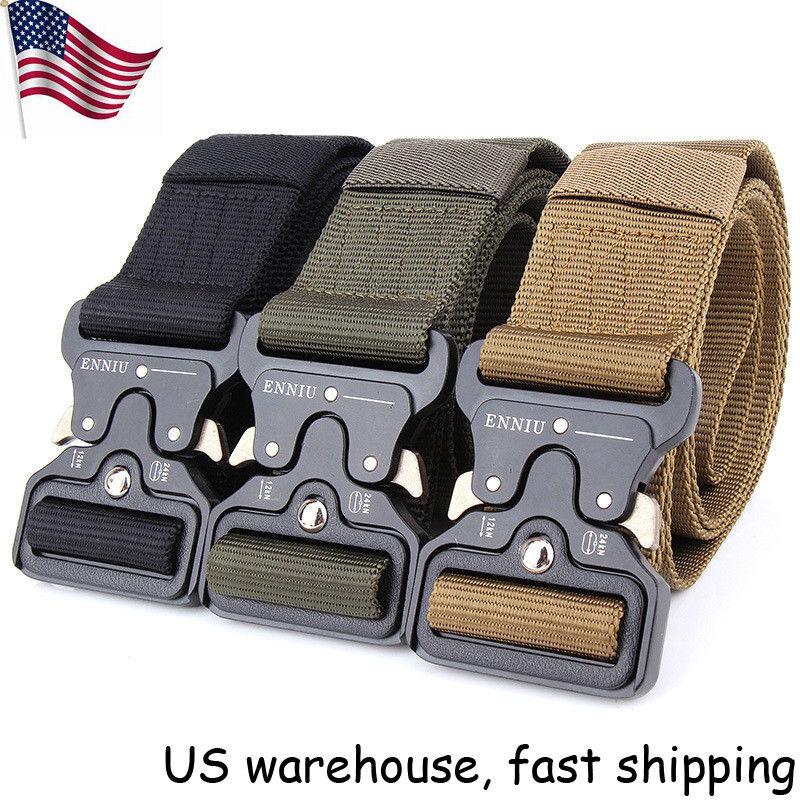"49*1.77"" ENNIU Men Tactical Buckle Belt Military Nylon Belt"