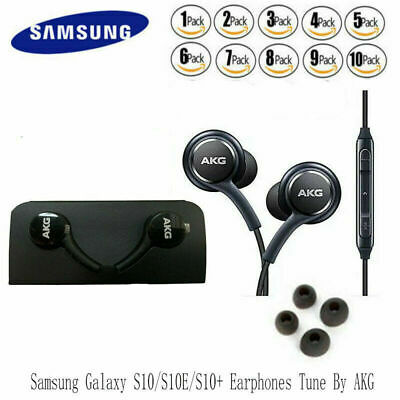 OEM Samsung Galaxy S10 Plus Headphones Earphones Lot AKG S8 S9 Note 8 9 EarBuds