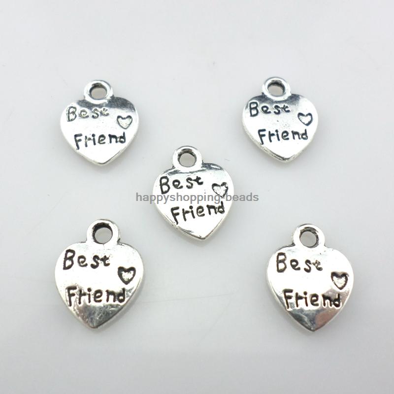 love life follow your heart Tibetan Silver Bead charms Pendants 10pcs 18*22mm