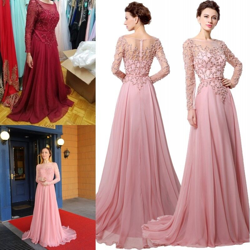 Chiffon Long Mother Of The Bride Dresses Formal Evening Gown Prom ...