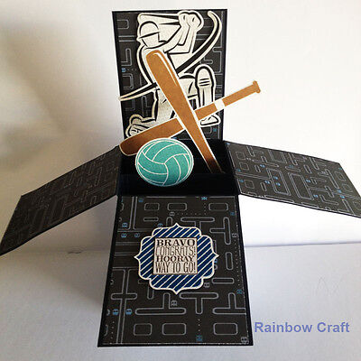 Handmade card - card in a box | Congrats Hooray Bravo | father's day card