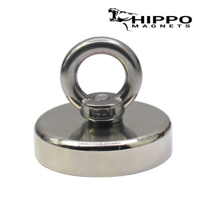 350 Lbs Pull Force Strong Neodymium Round Hippo Fishing Magnet Recovery