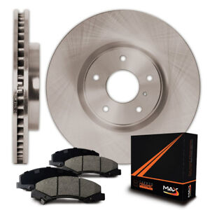 Rear Premium OE Blank Rotor and Ceramic Pads Brake Kit