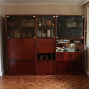 Mid Century Rosewood Modular Wall Unit