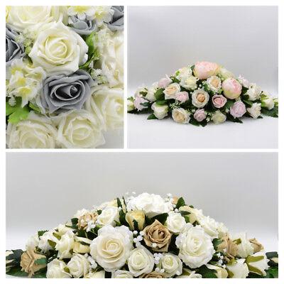 Artificial Wedding Flowers Silk Top Table Decoration Arrangement in 62 Colours - Wedding Table Arrangements