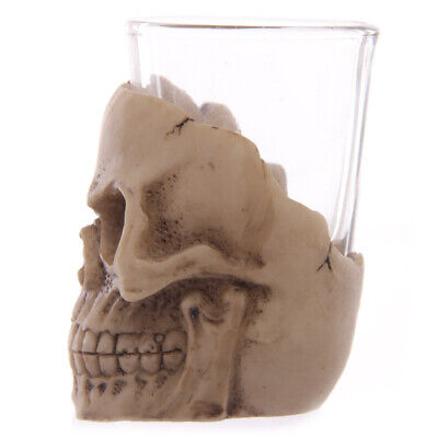 Halloween Mug Shots (Gruesome Skull Mini Shot Glass Drinking Glass Skull Head of Dead Halloween)