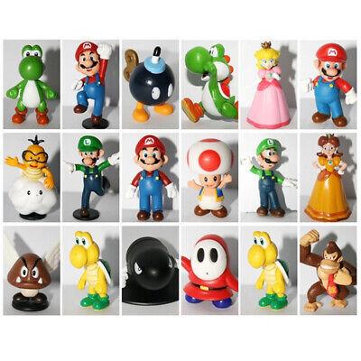 18pcs Super Mario Bros PVC Action Figure Doll Playset Figurine Toy Model Gift US