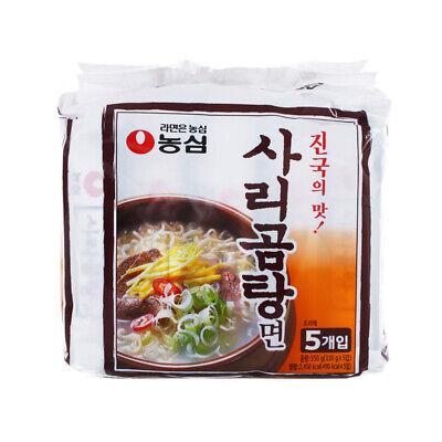 Korean Instant Noodle NONGSHIM SARIGOMTANGMYEON Beef Bone Soup Ramen 5pack Set