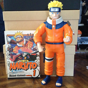 Naruto Rare Poseable Action Figure & Manga Vol. 1