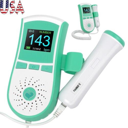 Pocket Fetal Doppler Baby Heart Monitor High Sensitivity Interchangeable Probe