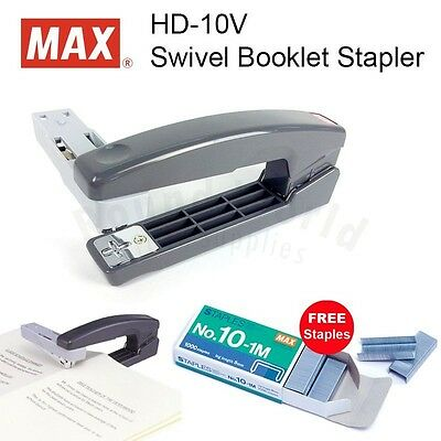 Max Hd-10v Swivel Booklet Diy Stapler Grey Free Staples