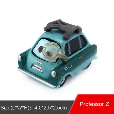 Disney Pixar Cars 2 Professor Z With Glass Diecast Toy Model Car 1:55 Gift Loose