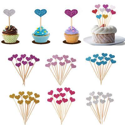 Wedding Baking (Wedding Cake Decor Baking Decoration Insert Card 50pcs Birthday Cupcake)