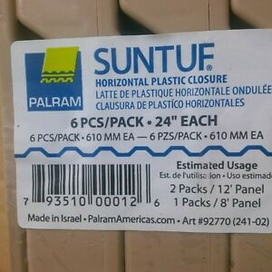 Suntuf Horizontal Plastic Closures