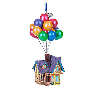 Disney Store 2017 Pixar Up House Balloons Boxed Sketchbook Ornament New