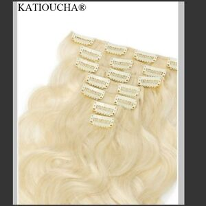 100% HUMAN HAIR/ Blonde body wave CLIP IN hair extensions, 7 pcs Yellowknife Northwest Territories image 9