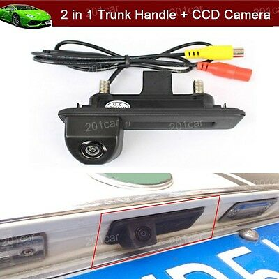 New 2 in 1 Car Trunk Handle + CCD Reverse Camera Parking for Audi A1 2010/2018
