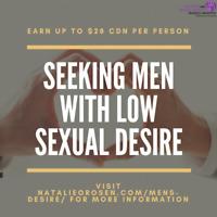 Seeking Men with Low Desire for Dalhousie Study