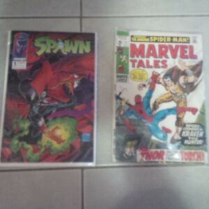 spawn and spiderman comic books