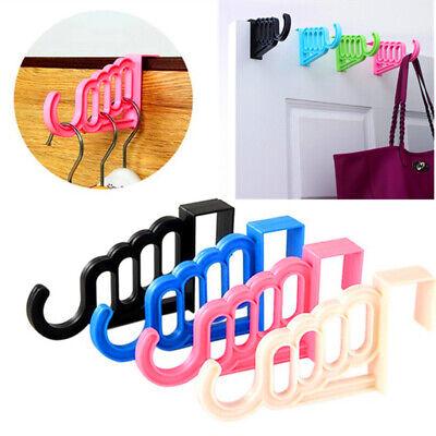 Door Back Hooks Kitchen PVC Home Hanger Rack Clothes Cupboard Storage Organizer