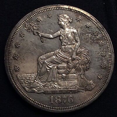 1876 S TRADE DOLLAR MS/UNC PL PROOF LIKE 6 8