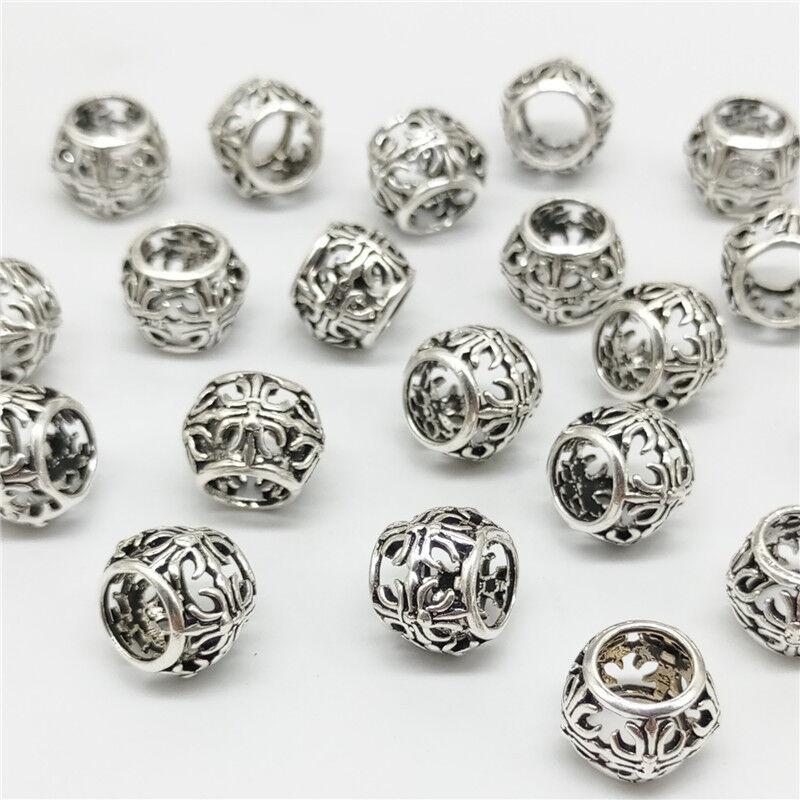 925 Sterling Silver Cross Barrel Tube Bead for European Charm Bracelets