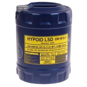 85W-140 Getriebeöl 10 Liter MANNOL Hypoid LSD Schaltgetriebeöl API GL-5 LS Öl