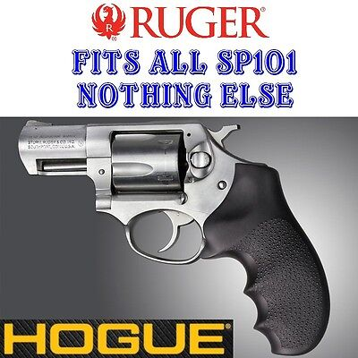 - NEW BLACK Hogue Monogrip Rubber Grip Fits ALL RUGER SP101 SP 101 Revolvers 81000