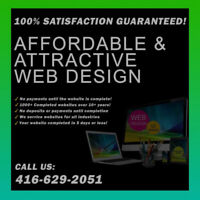 ❤️❤️$199 WEB DESIGN ✔️FREE MOCK UP✔️FREE DOMAIN☎️416.629.2051❤️❤