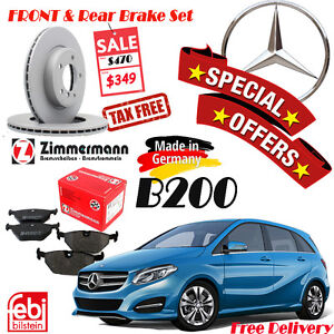 Special Offer Mercedes Benz B200 Brake Sets (Rotor/Pad/Sensor) Kitchener / Waterloo Kitchener Area image 1