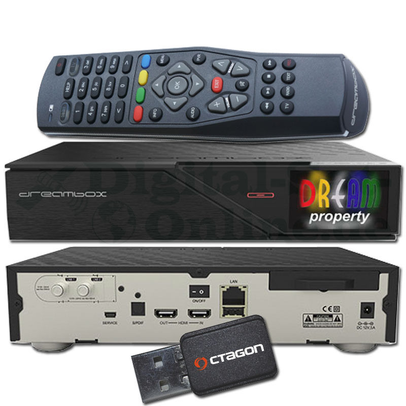 ➨ Dreambox DM900 UHD 4K 1xDVB-S2 Dual Tuner E2 Linux PVR + WLAN + 1TB HDD ✅