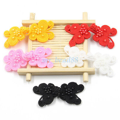 Classical Butterfly Fabric Sewing Chinese Closure Knot Cheongsam Frog Buttons