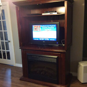All in one fireplace and tv stand St. John's Newfoundland image 1