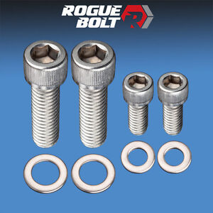 Sbc Fuel Pump Bolts Stainless Steel Kit Small Block Chevy