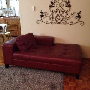 Burgandy Chaise Lounge