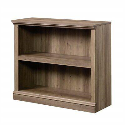 Sauder Select 2 Shelf Bookcase in Salt Oak 2 Shelf Oak Bookcase