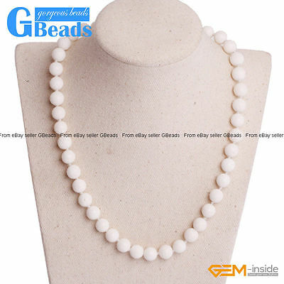 Handmade White Sponge Coral Beaded Long Necklace Fashion Jewelry Free Shipping White Sponge Coral