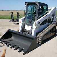 Bobcat  On Tracks Post Hole Services  403-831-6952