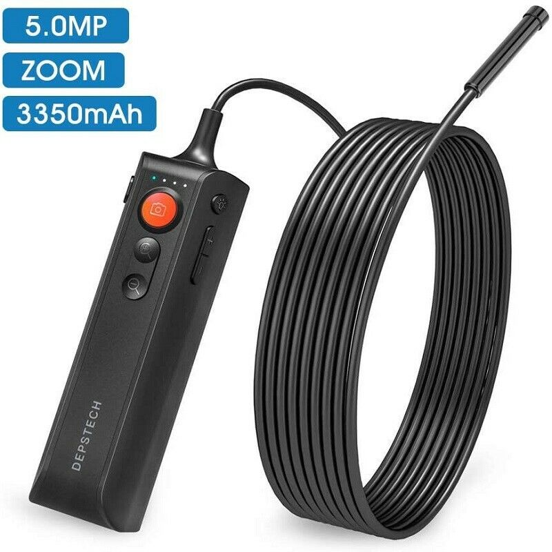 DEPSTECH WF060 5.0MP HD Endoscope Zoomable Snake Inspection