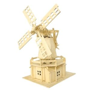 3D Dutch Windmill Woodcraft Construction Kit