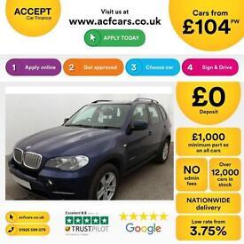 BMW X5 FROM £104 PER WEEK!