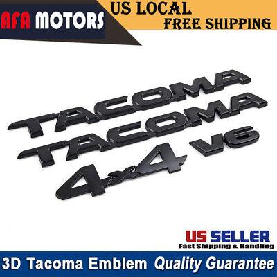 OEM NEW Toyota Tacoma TRD Pro and 4x4 Black Painted Emblem Set