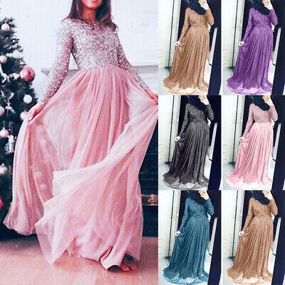 Abschlussball Kleider Muslim Kleid Plusgröße Pailletten Frauen Damen Maxi Lang Plus Größe Maxi Kleider